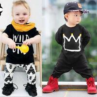 Newborn Toddler Baby Boy Clothes T-shirt Tops Pants Set Jumpsuit Romper Outfits