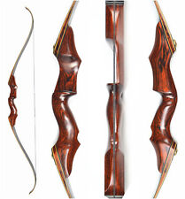 "40lb Archery Takedown Recurve Bow 58"" Hunting Wood Longbow Right Hand"