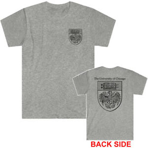 The University of Chicago Logo Men's Grey T-Shirt Size S to 5XL