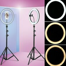 "LED Ringlicht 10"" Ringlampe Dimmbare Video Fotografisches Kit+Handy Stativ"