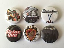 6 Status Quo button Badges In The Army NOw Down Down Piledriver Big Fat Mama