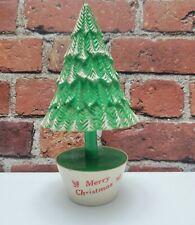 Vintage 1950's Rosbro Plastics Christmas Tree Candy Container Rare