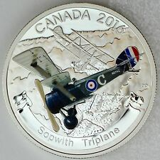 2016 $20 Sopwith Triplane: Aircraft of First World War Pure Silver Color Proof