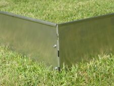 Rasenkanten aus  V2A Edelstahl  L 100 cm x H 14 cm mit extra Bodeneindringkante