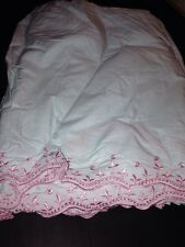 Simply Shabby Chic crib BedSkirt baby NURSERY Rose Cottage Blue Pink Dust ruffle