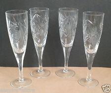 "5oz 150ml Cut Crystal Champagne Flute 7.57"" Tall,  Set of 4"