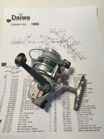DAIWA 1000C HS GR 1:5.4 Ball Bearing Drag anti-reverse R/L Spinning Reel, Japan