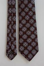IKE BEHAR Silk Tie. Excellent Brown w Blue Floral