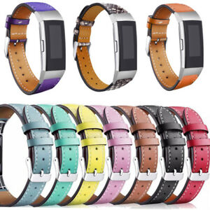 For Fitbit Charge 2 3 4 Strap Band Genuine Leather Strap Replacement Wristband