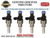 4x Fuel Injectors OEM Continental for Hyundai Sonata, Santa Fe / Kia Optima 2.0L