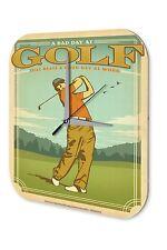 Orologio da parete  Retro Déco Marke Dire Golf Campo da golf del giocatore Plexi