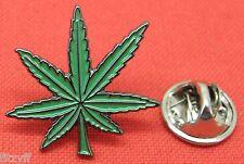 Cannabis Leaf Lapel Hat Cap Tie Pin Badge Marijuana Weed Pot Brooch Gift