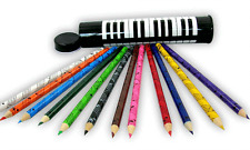 Coloured Pencils in Keyboard Pencil Tin - Music Themed Gift - Musical Stationery