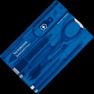 Victorinox Swiss Card Blue Transparent