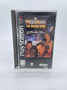 Wrestlemania The Arcade Game Case Ps1 Long Box playstation NO GAME