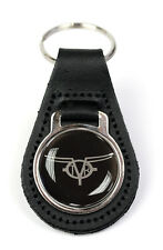 TVR Classic Logo Quality Black Leather Keyring