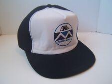 Mohawk Hat Vintage Dark Blue Broken Bill Snapback Baseball Cap