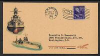 Pearl Harbor USS Arizona Navy Reprint With Original Period Stamp *0010