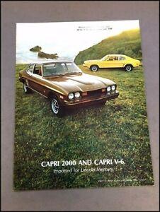 1974 Mercury Ford Capri 12-page Original Car Sales Brochure Catalog