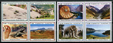 More details for tajikistan paleontology stamps 2020 mnh dinosaurs fossils mammoth 8v set in pair