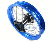 "10"" REAR BLUE ALUM RIM WHEEL DISC BRAKE SDG COOLSTER 110 125cc PIT BIKE I RM05B"