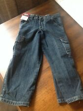 Boys Wrangler 4 regular classic carpenter jeans NWT adjustable waist