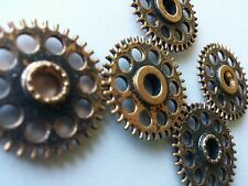 "Rustic Gears Steampunk Cogs Pendants Clock Metal Gear Mix 26mm/1"" 5pcs Bulk Lot"