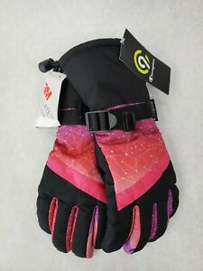 NWT C9 Champion 3M Thinsulate Waterproof Snow Girls Pink Ski Gloves  Size 8/16