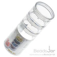 Beadsmith claro tarros de pila de perlas 5 nuevo    StarterSaténluchacontraincendiosIlliniNiñoChaquetaAbrigoAzul90sNaranja