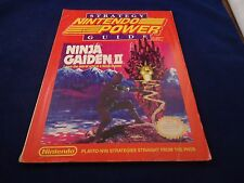 Official Nintendo Power Ninja Gaiden 2 II Strategy Guide Cheat Hint Book NES #B1
