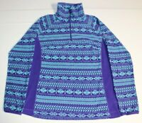 Women Columbia Glacial Fleece III 1/2 Zip  Pullover Large Purple Teal AL6437