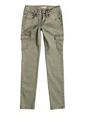 Roxy Girls Cecilcargo Cargo Oil Green Pants Sz 10/M ERGNP03017