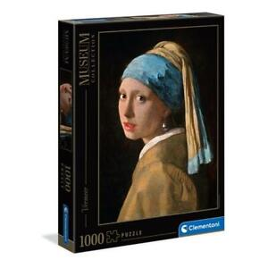 puzzle Clementoni 1000 pezzi VERMEER GIRL WITH A PEARL EARRING 39614 + OMAGGIO