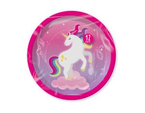 Magical Unicorn Theme Birthday Party Plates - 12 pk