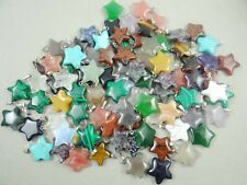 Mixed agate Healing Reiki Chakra Physical Five-pointed star pendant Gemstone AA7