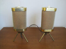 50er 60er Messing Lampe Tripod Tischlampe Mid Century Vintage Table Design DDR