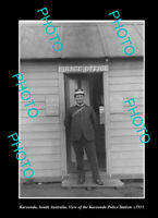 OLD LARGE HISTORIC PHOTO KAROONDA SOUTH AUSTRALIA THE POLICE STATION c1915