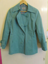 Hip Length Green Cotton Per Una M&S Jacket in Size 12