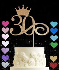 30th rose gold glitter cake topper birthday 18 21 30 40 50 60 70 80 90 100 16