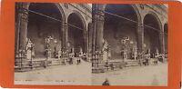 Loggia Dei Lanzi Florence Firenze Italia Foto Stereo Vintage Albumina Ca 1870