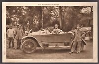 GERMAN WW1 CAR OFFICERS MILITARY TRANSPORTATION ANTIQUE POSTCARD