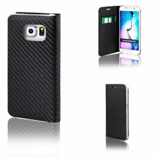 Carbon Fibre Mobile Phone Wallet Cases for Samsung Galaxy S