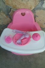 FEEDING CHAIR, HIGH CHAIR WITH EXTRAs  FOR BABY ALIVE DOLLS NO DOLL INCLUDED**