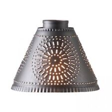 Country new Crestwood /Cambridge black punched tin lamp shade