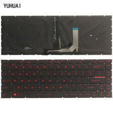 New for MSI GF63 US English keyboard Red backlit