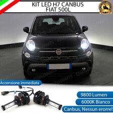 KIT FULL LED FIAT 500L 500 L LAMPADE H7 6000K BIANCO 9800 LUMEN CANBUS LED