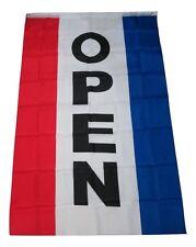 3x5 Open Flag Advertising Vertical Open Flag Sign 3'x5' 5'x3' Banner Grommets