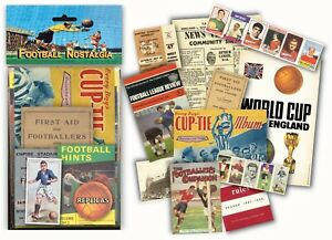 Football Nostalgia Memorabilia Gift Pack with Replica Artwork