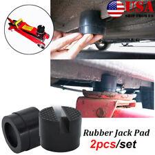 2pc Hydraulic Rubber Jack Pad Car Protector Adapter Maintenance Lifting Tool Us