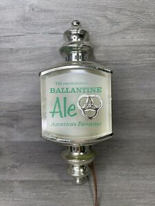 Vintage 60s Ballantine Ale Beer Electric Lighted Wall Scone Lamp Light Sign